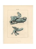 Votive Bronze Phalli Giclee Print by A. Delvaux