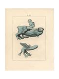 Votive Bronze Phalli Giclee Print by A. Delvaux