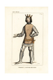 Charles V, King of France, Military Costume, 1338-1380 Giclee Print by Leopold Massard