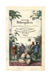 Title Page: Calligraphic Title and Vignette of Peoples of Africa Giclee Print