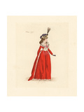 French Woman Wearing the Fashion of March 1792 Giclee Print by Auguste Etienne Guillaumot