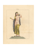 Fresco from Pompeii, Hermaphrodite Giclee Print by A. Delvaux