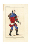French Peasant, 14th Century Giclee Print by Leopold Massard