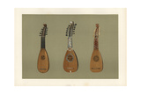 Pandurina or Discant Lute, and Two Milanese Mandoline Lutes Giclee Print by Alfred James Hipkins