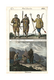 Costumes of the People of Greenland, Eskimo (Inuit) from Labrador Lámina giclée