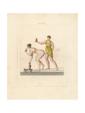 Fresco from Pompeii, Erotic Scene Giclee Print by A. Delvaux