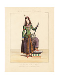Persian Woman Playing a Kamanche (Violin), 19th Century Giclee Print by Thomas Hailes Lacy