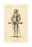 Sergeant at Arms, Royal Guard, Mace-Bearer, 13th Century Giclee Print by Leopold Massard
