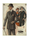 Men's Conservative Double-Breasted Suits from the 1920s Giclee Print