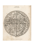 Astronomical Chart of the Southern Hemisphere Giclee Print by T. Hebert