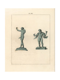 Bronze Figures of Mimic Buffoons from Pompeii Giclee Print by A. Delvaux