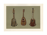 Ten-String Quintena or Chiterna (Italian Guitar) and Mandoline Giclee Print by Alfred James Hipkins