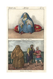 Costumes of Tripoli, Libya, Woman in Burqa and Veil, Man in Turban Giclee Print