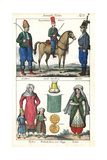 Turkish Cavalry, Artillery Man, and Turkish Women and Children Giclee Print