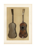 Guitar Decorated with Ebony, Ivory and Mother-Of-Pearl Giclee Print by Alfred James Hipkins