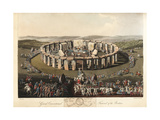 Grand Conventional Festival of the Britons at Stonehenge Giclee Print by Charles Hamilton Smith