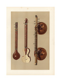 Indian Sitars and a Vina with Large Soundboxes Giclee Print by Alfred James Hipkins