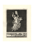 Bacchant Dancer Striking a Tympanum or Tambourine with Her Hand Giclee Print by Tommaso Piroli