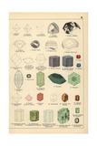 Precious Stones Including Diamond, Ruby, Sapphire, and Emerald Giclée-Druck