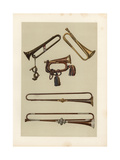 Cavalry Bugle and Trumpets Giclee Print by Alfred James Hipkins