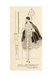 Woman in Afternoon Dress in White Silk and Lace from 1926 Giclee Print