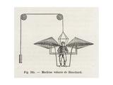 Jean-Pierre-Francois Blanchard's Flying Machine, 1780S Giclee Print