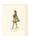 Costume of a Young Man of Siena, 15th Century Giclee Print by Paul Mercuri
