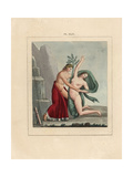 Fresco from Pompeii Apollo and Nymph Giclee Print by A. Delvaux