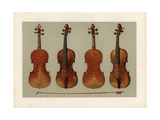 Alard and Guarnerius Del Gesu Violins by Stradivarius Giclee Print by Alfred James Hipkins