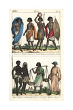 Costumes of Sudan: Shendi, Funje, Sheygya People, and King, Melik Giclee Print