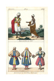 Algerian Costumes, 1800S Giclee Print