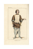 Military Costume of Villiers, an Ordinary French Knight, 13th Century Giclee Print by Leopold Massard