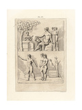 Stone Sarcophagus for a Married Couple Giclee Print by A. Delvaux
