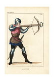 French Crossbowman, 14th Century Giclee Print by Leopold Massard