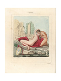 Fresco from Herculaneum, the Faun's Kiss Giclee Print by A. Delvaux