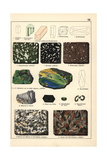 Minerals Including Amazonite, Porphyry, Chlorite and Granite Giclée-Druck