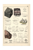 Mineral Varieties Including Fluorite, Celestine and Rock Salt Giclee Print