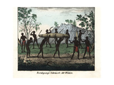 Australian Aborigine Funeral Ceremony from Port Jackson Giclee Print