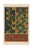 Nasturtium in Art Nouveau Patterns Giclee Print by Eugene Grasset