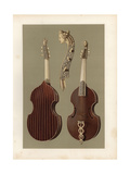 Viola Da Gamba or Bass Viol with Carved Ivory Head and Neck Giclee Print by Alfred James Hipkins