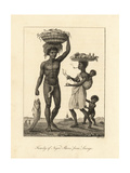 Family of African Slaves from Loango (Congo) Giclee Print by John Gabriel Stedman