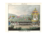 Indian Festival of Tirunal (Pongal) with Large Procession Giclee Print