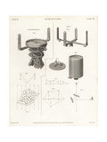 Surveying Equipment from the 19th Century Giclee Print by J. Farey