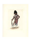 Costume of an Incroyable Giclee Print by Auguste Etienne Guillaumot