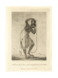 A Female African Slave with a Weight Chained to Her Ankle Giclee Print by John Gabriel Stedman