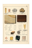 Minerals and Crystals Including Aragonite, Dolomite and Fluorite Giclée-Druck