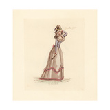 French Woman Wearing the Fashion of July 1792 Giclee Print by Auguste Etienne Guillaumot
