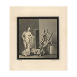 Theseus and Ariadne with Slain Minotaur from Pompeii Giclee Print