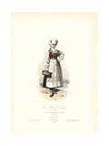 Young Woman of Hardanger, Norway, 1867 Giclee Print by Hippolyte Pauquet