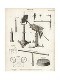 Heliostata Mechanism and Parts Giclee Print by J. Farey
